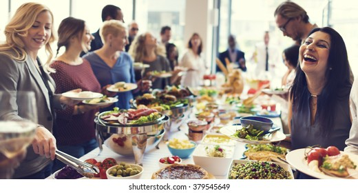 Food Buffet Catering Dining Eating Party Sharing Concept