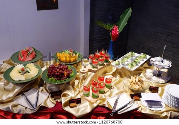 Super Food Buffet Setup Ideas Stock Photo Edit Now 1120768700 Interior Design Ideas Gentotryabchikinfo