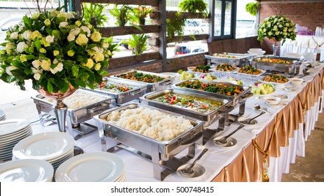 Food buffet  wedding in the Thailand