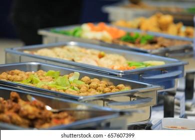 Food buffet wedding in the Thailand