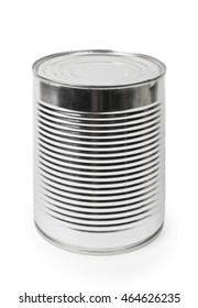 Food can isolated on the  white background