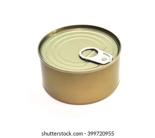 Food can on white background