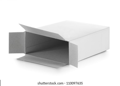 food cardboard box for new design on white background