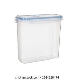 Food and cereal container box isolated on white background