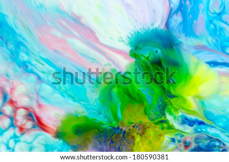 Food Coloring Creamer Creating Bright Colorful Stock Photo (Edit Now ...