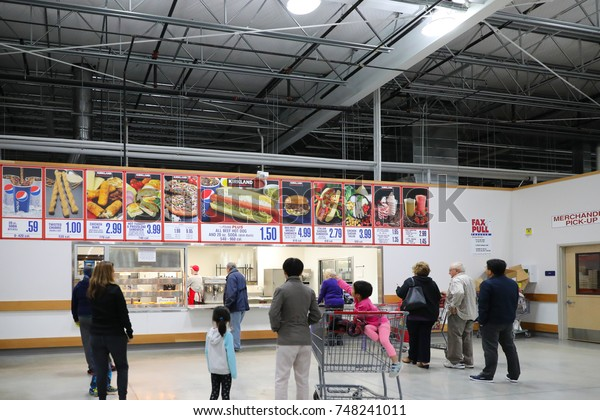 Food court of Costco store at Allentown on November 3, 2017 in Pennsylvania, USA.