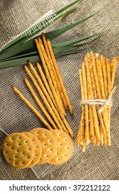 Food. crackers and Straws