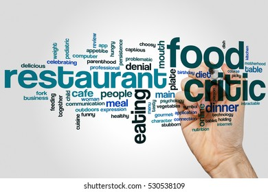 Food critic word cloud concept