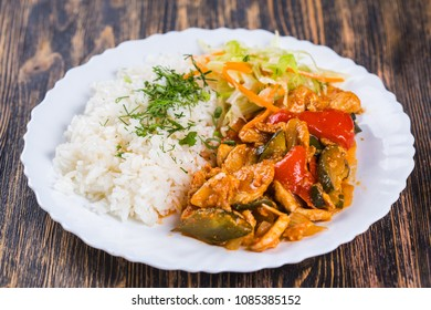 food cuisine Rice with chiken