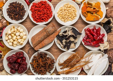 Food of dishes prepared with medicinal herbs