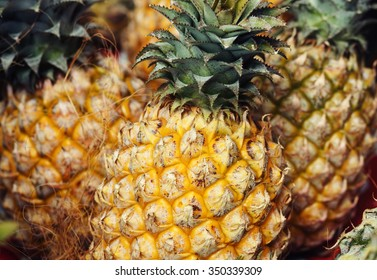 Food and drink concept - pineapples.