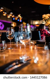 Food drinks table night restaurant