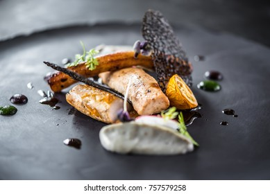 food elegant black plate