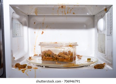 Food exploded in microwave oven