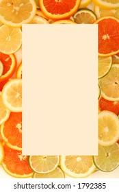 Food Frame:Citrus Fruit