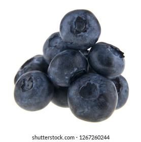 food with fresh organic blueberries isolated on white background