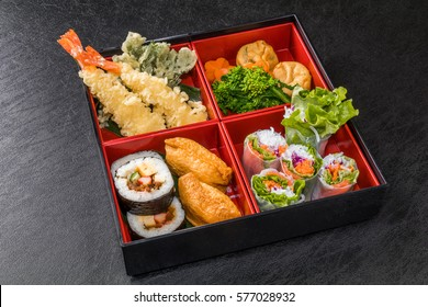 Food of good holiday making lunch box Japan(bento)