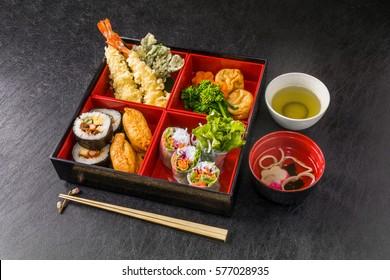 Food of good holiday making lunch box Japan(bento)