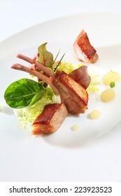 food gourmet pork ribs