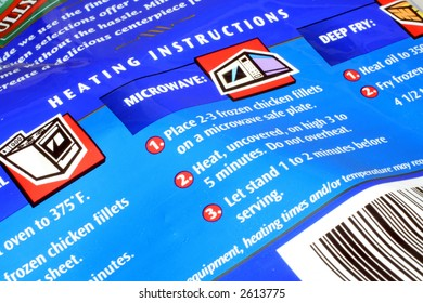 Food Heating Instructions
