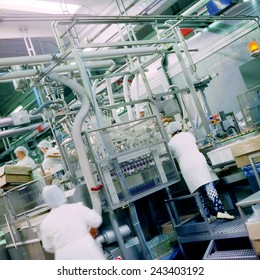 food industry with workers