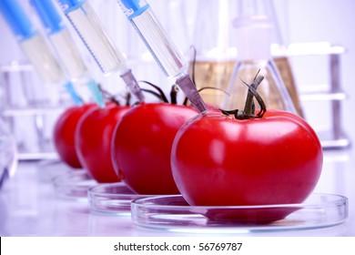 Food in laboratory, dna modify