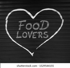 Food Lovers hand drawn sign