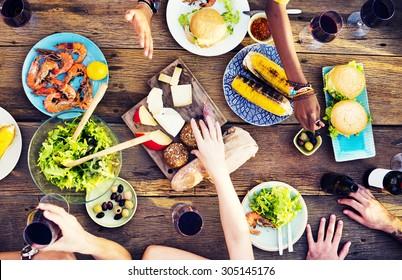 Food Lunch Celebration Party Flavors Concept