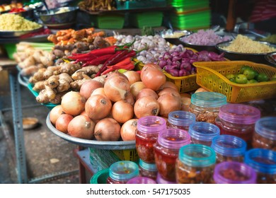 Food market in Asia.