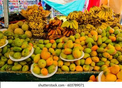Food market in Oaxaca, Mexico