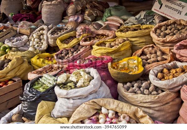 Food Market at Tupiza, Bolivia, South America