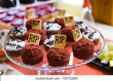 Food on halloween party
