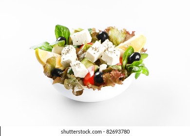 Food on white background