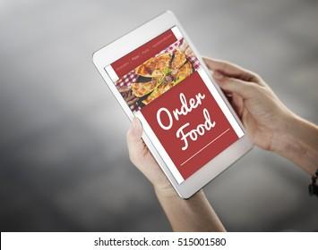Food Order Pizza Online Internet Concept