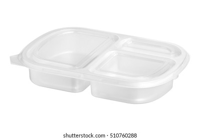 Food packaging (with clipping path) isolated on white background