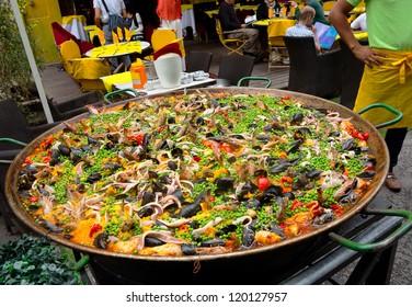 Food. Paella. Spanish food. Holiday.