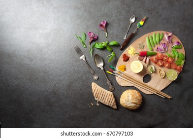 Food palette background