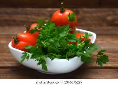 Food parsley and tomato