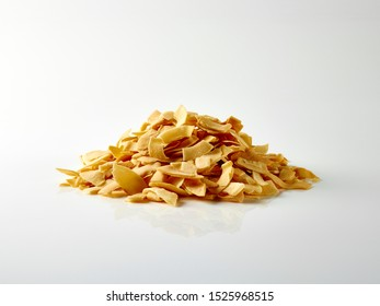 Food photography coconut chips still life