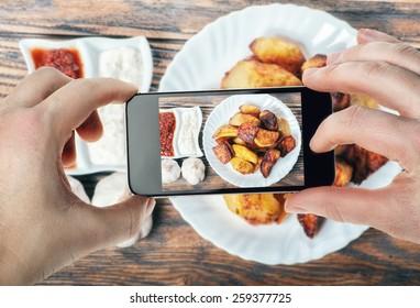 Food photography on  smartphone