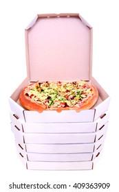 food pizza studio box open vertical boxes top