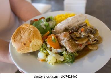 food plate for elegant events