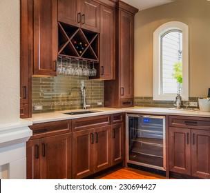 Food Prep and Wine Storage Room in Luxury Home