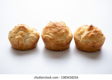 Food Prepared Baking Baked Soda Tea Biscuits Isolated White Background