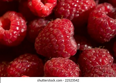 food series: macro picture of fresh ripe raspberry