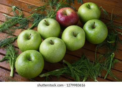 Food still life apples