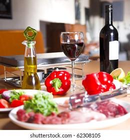 food still life in the restaurant