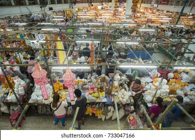 food Stores at the Warorot Market in the city of Chiang Mai in North Thailand in Thailand in southeastasia, thailand, chiang mai, november 2015.