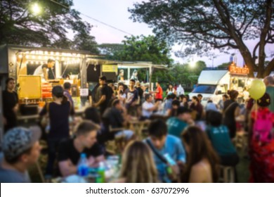 Food Truck Festival Blurred on Purpose