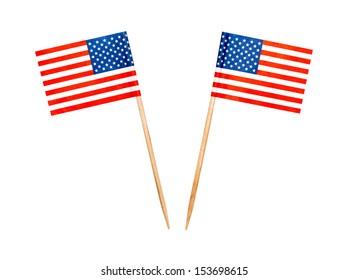 Food USA flag toothpicks